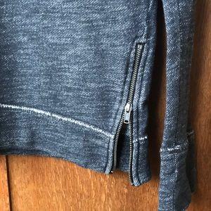 J Crew side zip sweatshirt